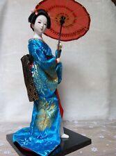 30cm Oriental Japanese silk furnishings Kimono Kabuki Geisha Doll Xmas gift