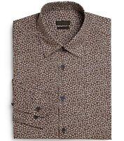 Ermenegildo Zegna Size 42 / 16.5 Slim-Fit  Medium Grey Floral  Dress Shirt