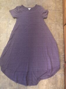 NWOT Lularoe Carly Solid Purple w/Gray Sz XS