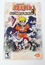 Naruto Ultimate Ninja Playstation 2 PS2 Instruction Manual