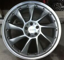LORINSER LM6 2 Pc 20 X 10 ET 38 5:112  Silver New Made In Germany One Wheel Only