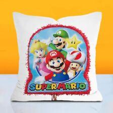 SUPER MARIO & FRIENDS Cushion Cover 45 X 45 RETRO game pillow NEW kids Novelty