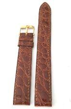 Cinturino per orologio OMEGA ORIGINALE fibbia ORO coccodrillo 15 mm NUOVO art 31