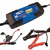 Electronic Automatic smart Car Battery Charger Fast/Trickle/Pulse Modes 4 AMP
