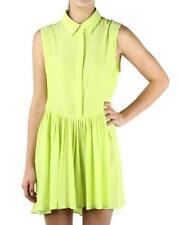 august street Designer Elena Lime Collar Skater Dress Size M BNWT #sL66