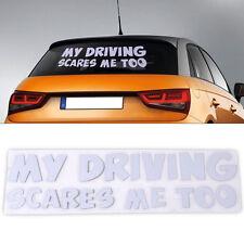 My Driving Scares Me Too Car Window Van JDM Custom Funny Vinyl Sticker Decal