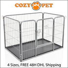 Heavy Duty Cozy Pet Puppy Playpen Run Crate Enclosure Welping Dog Cage inc Floor