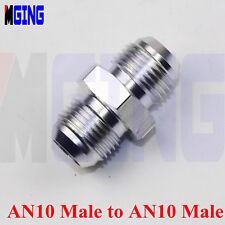 NPT Male -10 AN10 AN-10 To AN10 male Tank Reducer Fuel Fitting Adaptor  Silver