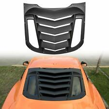ABS Rear Window Louvers in Matte Black for Ford Mustang 2015 2016 2017 2018 2019