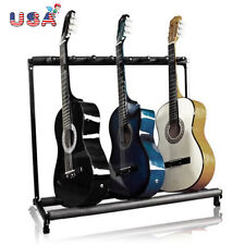 Multi Guitar Stand 7 Holder Folding Organizer Rack Stage Bass Electric Acoustic