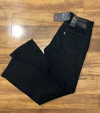 NWT 514 LEVIS STRAIGHT LEG BLACK DENIM COTTON JEANS MEN Size 32X32