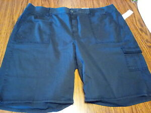 SONOMA Womens  Blue Cotton Blend Cargo Bermuda Shorts  size 22w