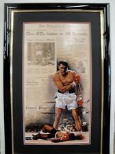 Cassius Clay (Muhammed Ali)- Sonny Liston Embellished Art Framed
