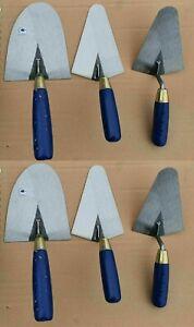 Restposten 6 Maurerkellen Set 2x Pliesterkelle 140 + 2x 160mm + 2x Maurerkelle