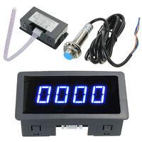 4Digital Blue LED Tachometer RPM Speed Meter w/ NPN Hall Proximity Switch Sensor