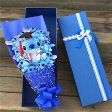Bunch of 11 Doctor Stitch Plush Dolls Toys flowers Graduation Creative Gift Box