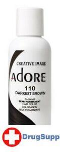 BL Adore Semi-Permanent Haircolor #110 Darkest Brown 4 oz - THREE PACK