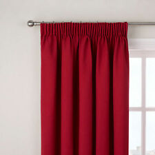 John Lewis Lined Pencil Pleat curtains Cotton Rib RED 168 x 228 cm 66 x 90""