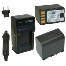 Wasabi Power Battery (2-Pack) and Charger for JVC BN-VF823, BN-VF823U