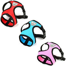 MESH PADDED SOFT PUPPY PET DOG HARNESS BREATHABLE COMFORTABLE 3 COLORS 3 SIZES
