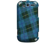 Plastic Design Case Blue Plaid Weave For T-Mobile myTouch 4G