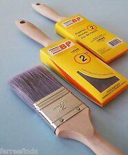 "3 Linzer 2"" Paint Brush Polyester Bristle Flat Edge Beavertail Hdl HD1152 0200"