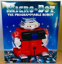 MICRO-BOT the programmable Robot roboter 1985 TIGER toys NEW in original box