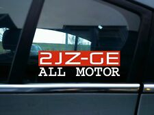 2jZGE All motor sticker -for Toyota Supra, Aristo,Chaser Non-Turbo 1991-2002 2jz