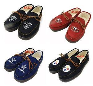 NFL Team Color-Men's Moccasin Slippers