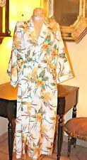 Stunning Vintage Lord & Taylor Long Floral Print Long Robe