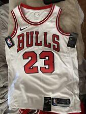 Michael Jordan Chicago Bulls Home White Nike Swingman Jersey Size 44 Medium NWT