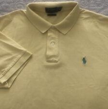 Mens Polo Ralph Lauren SS Yellow Cotton Pique Pony Polo Shirt XL