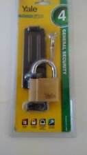1 x   YALE 50 MM  BRASS PADLOCK AND HASP  STABLE - FREE POSTAGE