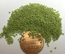 Pre-1900 Antique Micro Seed Beads 17/0 Opaque Yellow-Green 3.9 gram bags