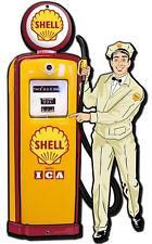 Vintage Shell Gas Station Motor Oil Gasoline Metal Sign Man Cave Garage Barn 023