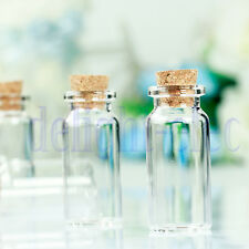 10Pcs Mini 22*50mm Empty Clear Glass Wishing Bottles Vials With Cork 10ml  DE