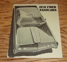 Original 1970 Ford Taxicab Taxi Foldout Sales Brochure 70