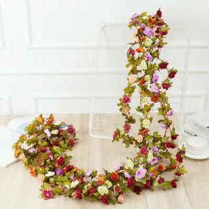 45 Blumen künstliche Blume Girlland Ivy Herbst kleine Pfingstrosen Blumen Pflanz