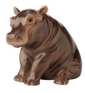 "John Beswick Hand Painted Ceramic ""Hippo Calf"" Figurine JBA4"