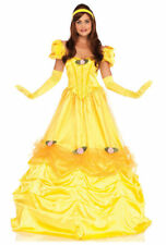 Leg Avenue Belle of the Ball Costume Women's Yellow Princess Beauty Dress S