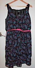 NWT City Chic Ruffle Rose Dress Size M Size 18-20