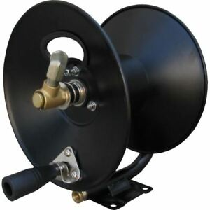 """General D30002 3/8"""" x 100' Steel Hose Reel with Mounting Base 4,000 PSI 185° F"""