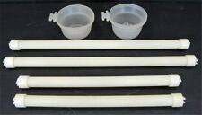 Bird Cage Accessories 2 Food Water Cups Bowls 4 Perch Roost Perches Roosts
