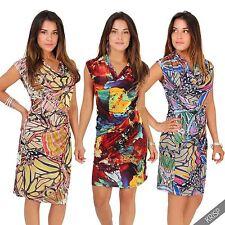 Cowl Neck Sleeveless Casual Dresses