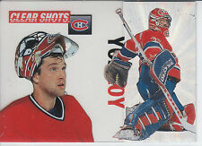 PATRICK ROY 1995/96 Pinnacle CLEAR SHOTS 1/box insert RARE!