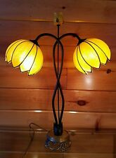 VTG/Antique Retro Lucite Flower Shade Table-Desk Lamp, Mid Century Parlor Light