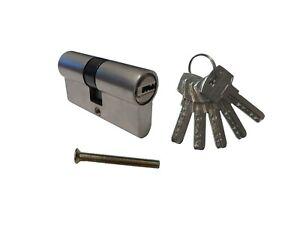 30/30 Schließzylinder mit 5 Schlüsseln 60 mm Türschloss Schloss Profilzylinder