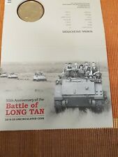 50TH ANNIVERSARY OF THE BATTLE OF LONG TAN, 2016   $5 UNCIRCULATED COIN