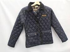 BARBOUR Mens Quilted Pattern Jacket Button Fasten Navy Blue EU30 - C56