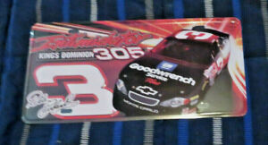 DALE EARNHARDT SR INTIMIDATOR #3 LICENSE PLATE  SO COOL  GREAT FOR MAN CAVE  NEW